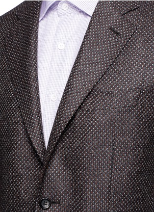 Detail View - Click To Enlarge - Canali - 'Kei' wool-cashmere tweed soft blazer
