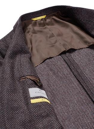 - Canali - 'Kei' wool-cashmere tweed soft blazer