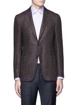 'Kei' wool-cashmere tweed soft blazer