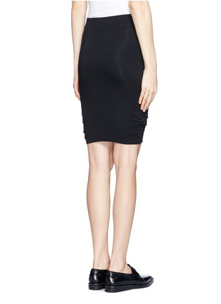 Back View - Click To Enlarge - Helmut Lang - Asymmetric twist modal-wool skirt