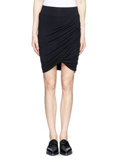 HELMUT LANGAsymmetric twist modal-wool skirt