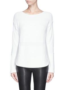 HELMUT LANG'Plov' round hem split side sweater