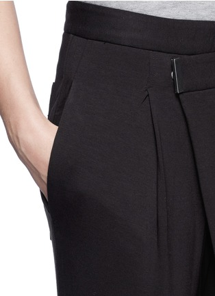 Detail View - Click To Enlarge - Helmut Lang - 'Origami' jersey pants