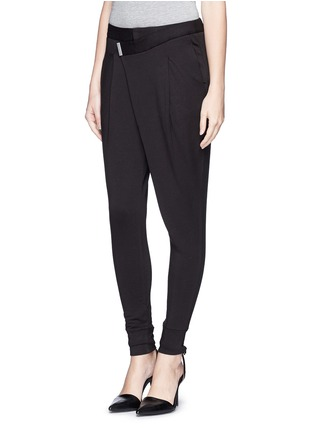 Front View - Click To Enlarge - Helmut Lang - 'Origami' jersey pants