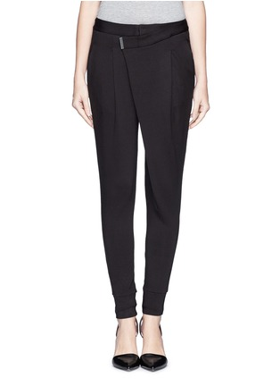 Main View - Click To Enlarge - Helmut Lang - 'Origami' jersey pants