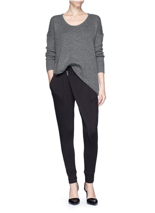 Figure View - Click To Enlarge - Helmut Lang - 'Origami' jersey pants