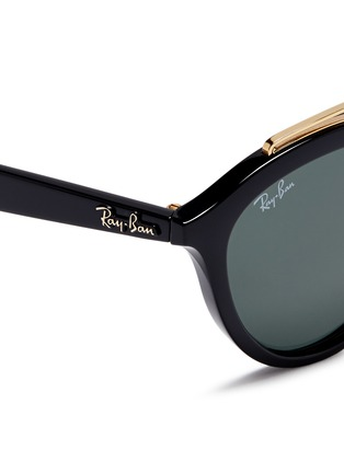 Detail View - Click To Enlarge - Ray-Ban - 'RB4257' metal browline bridge acetate phantos sunglasses