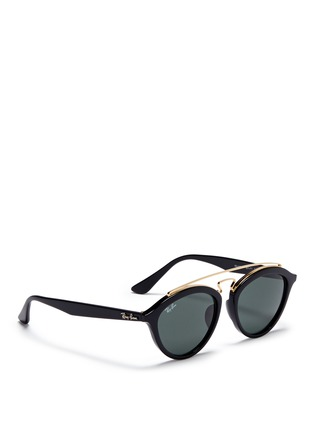 Figure View - Click To Enlarge - Ray-Ban - 'RB4257' metal browline bridge acetate phantos sunglasses
