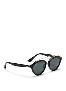 RAY-BAN'RB4257' metal browline bridge acetate phantos sunglasses