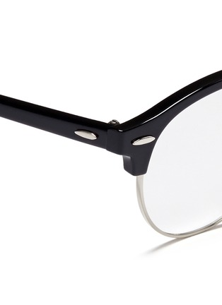 Detail View - Click To Enlarge - Ray-Ban - 'Clubround Optics' acetate browline round optical glasses
