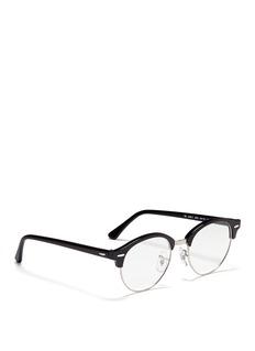 RAY-BAN'Clubround Optics' acetate browline round optical glasses
