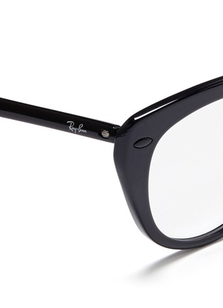 Detail View - Click To Enlarge - Ray-Ban - 'RB7088 'Light Ray' titanium acetate cat eye optical glasses