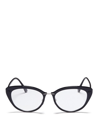Main View - Click To Enlarge - Ray-Ban - 'RB7088 'Light Ray' titanium acetate cat eye optical glasses