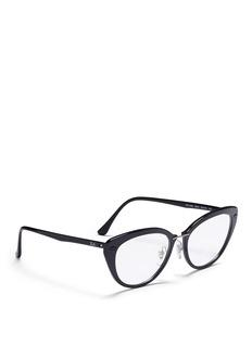 RAY-BAN'RB7088 'Light Ray' titanium acetate cat eye optical glasses