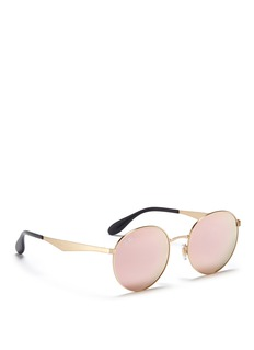RAY-BAN'RB3537' coined metal round mirror sunglasses