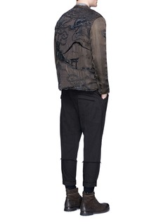 By Walid 'Dragon' one of a kind embroidered satin blouson jacket