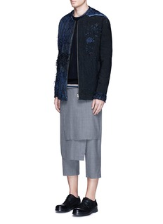 By Walid 'Rana' wrap front cropped wool pants