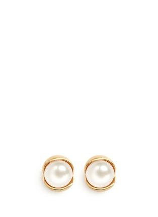 Obellery-'Fruity' 18k yellow gold plated freshwater pearl stud earrings