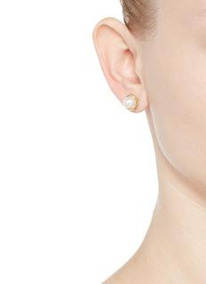 Obellery'Fruity' 18k yellow gold plated freshwater pearl stud earrings
