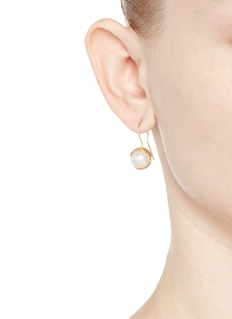 Obellery 'Fruity' 18k yellow gold plated freshwater pearl hook earrings