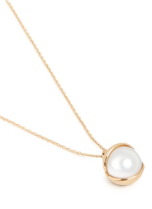 Detail View - Click To Enlarge - Obellery - 'Fruity' 18k yellow gold plated freshwater pearl pendant necklace