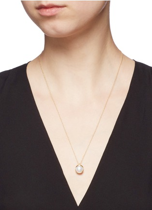 Figure View - Click To Enlarge - Obellery - 'Fruity' 18k yellow gold plated freshwater pearl pendant necklace
