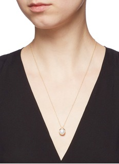 Obellery 'Fruity' 18k yellow gold plated freshwater pearl pendant necklace