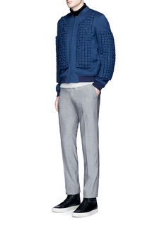 Wan Hung Stripe cashmere-mohair blend turtleneck sweater