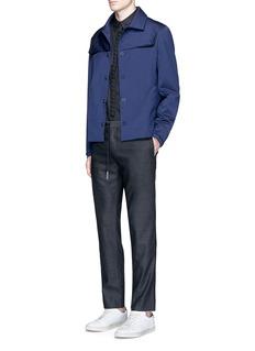 Wan HungRaised yoke wool blouson jacket