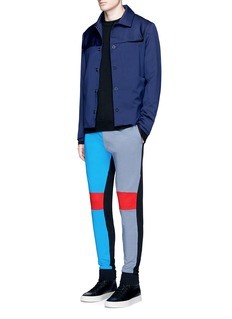 Wan Hung Colourblack raised pocket jogging pants