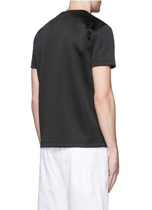 Back View - Click To Enlarge - Theory - 'Kaj' scuba jersey T-shirt