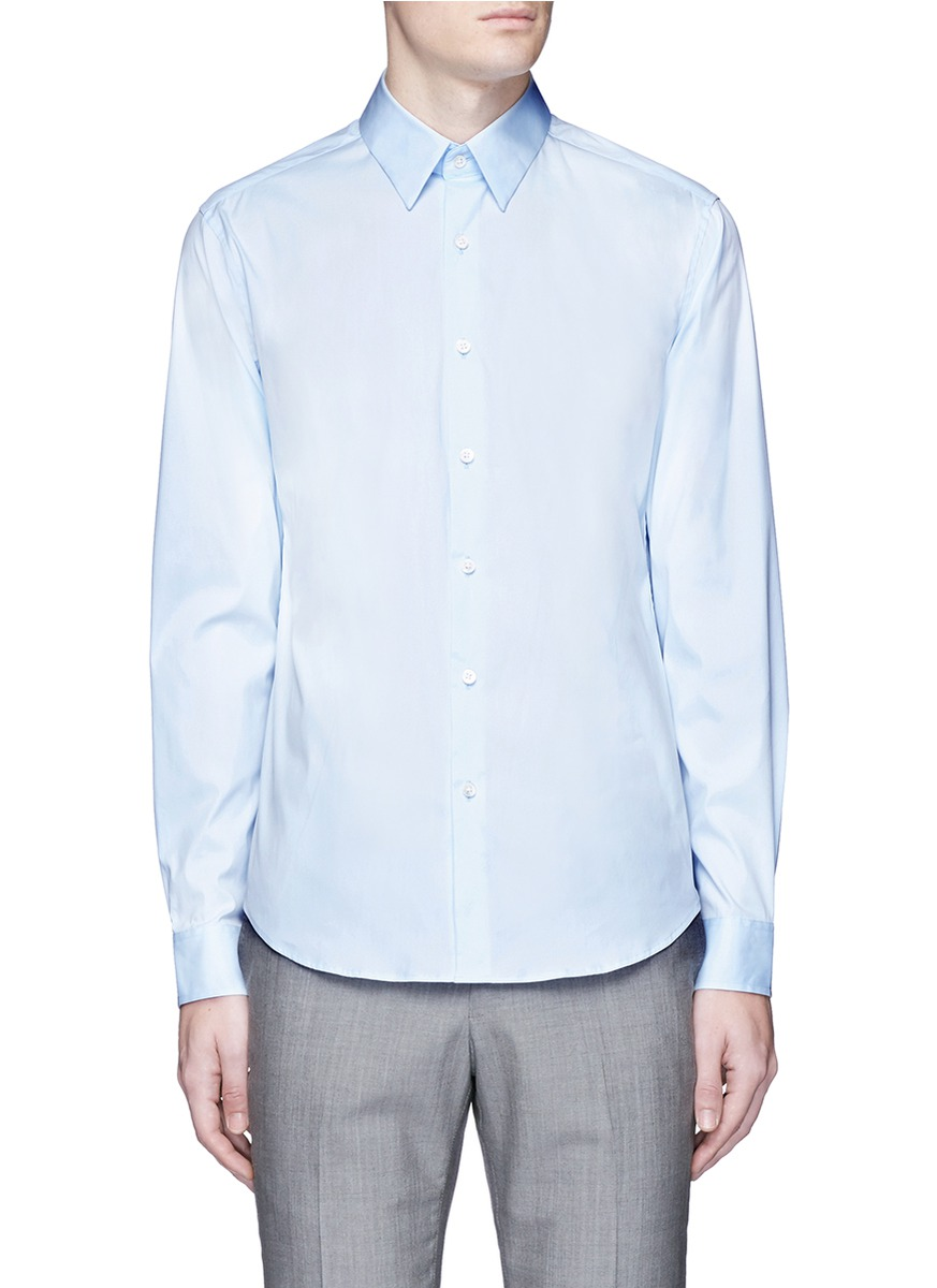 theory male sylvain point collar shirt