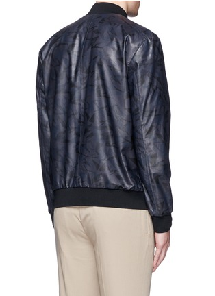 Back View - Click To Enlarge - Theory - 'Brant L' shatter print leather bomber jacket
