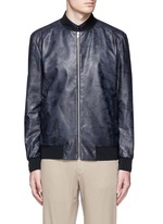 'Brant L' shatter print leather bomber jacket
