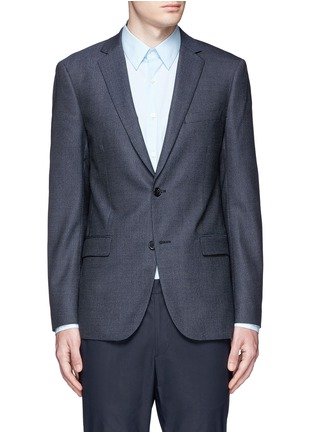 Main View - Click To Enlarge - Theory - 'Rodolf' wool-silk nailhead blazer