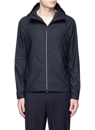 Main View - Click To Enlarge - Theory - 'Channing' elastic trim jacket