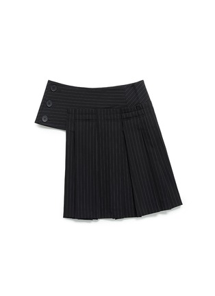 Main View - Click To Enlarge - Dkny - Pinstripe inverted pleat skirt belt