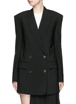 Oversize double breasted pinstripe suit jacket