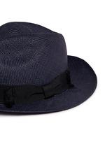 蝴蝶结帽带巴拿马草帽