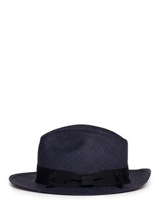 模特儿示范图 - 点击放大 - SENSI STUDIO - 蝴蝶结帽带巴拿马草帽