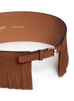 Fringe suede corset belt