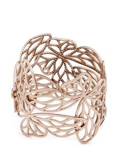 Anyallerie 'Forest Butterfly' diamond 18k rose gold cutout bangle