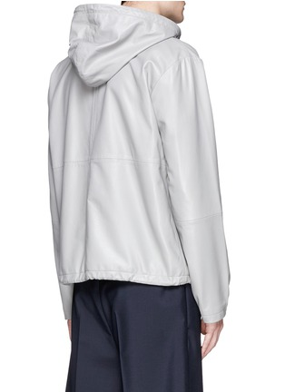 Back View - Click To Enlarge - McQ Alexander McQueen - Leather zip hoodie