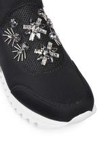 'Rosas' embellished crystal bead neoprene sneakers