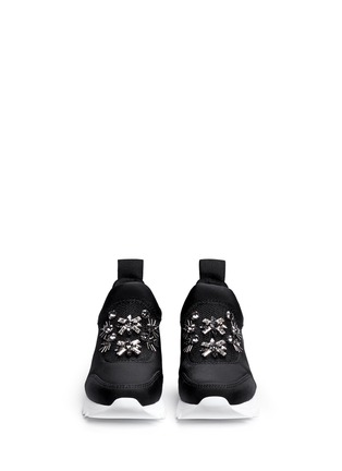 Figure View - Click To Enlarge - Tory Burch - 'Rosas' embellished crystal bead neoprene sneakers
