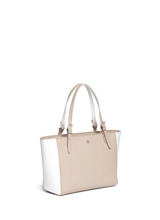 Front View - Click To Enlarge - Tory Burch - 'York' small leather buckle tote