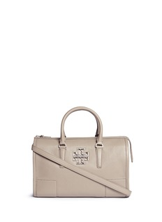 TORY BURCH 'Britten' pebbled leather satchel