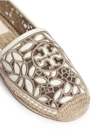 Detail View - Click To Enlarge - Tory Burch - 'Rhea' embroidered leather espadrille slip-ons