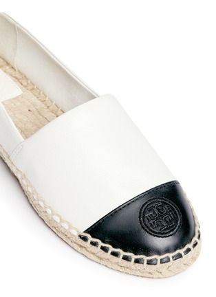 Detail View - Click To Enlarge - Tory Burch - Colourblock leather espadrille slip-ons