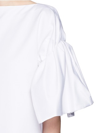 Detail View - Click To Enlarge - VICTORIA, VICTORIA BECKHAM - Ruched sleeve cotton twill dress